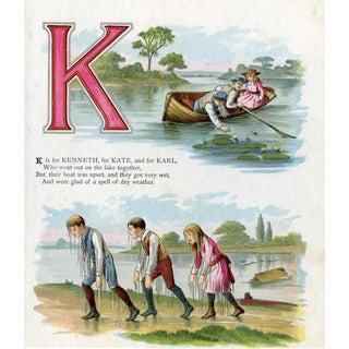 Girls & Boys Name Print, Letter K For Sale