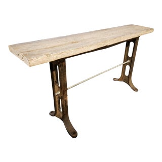 Late 20th Century Rustic Console Table For Sale