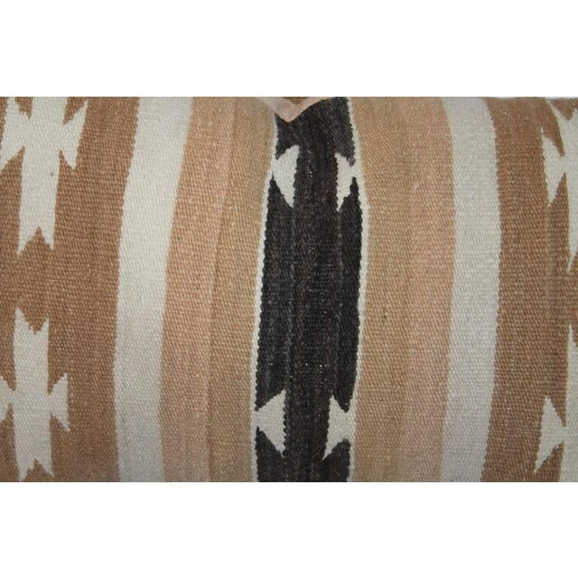 Pair of Chinle Navajo Indian Weaving Bolster Pillows - Image 5 of 5