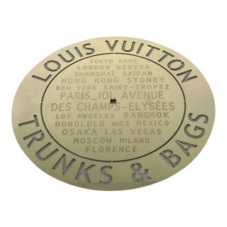 Louis Vuitton Store Plaque