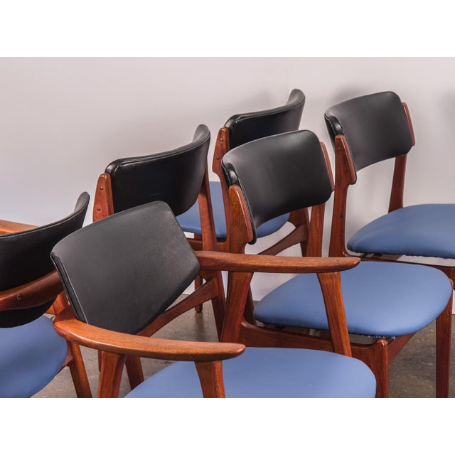 Set of 6 Erik Buck Style Teak Dining Chairs - Image 7 of 11