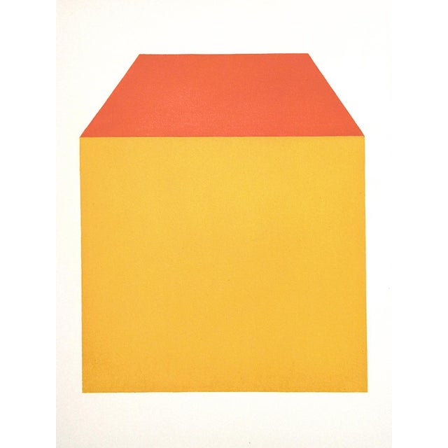 """""""Façade"""" Contemporary Minimalist Geometric Oil Painting by Shyun Song For Sale"""