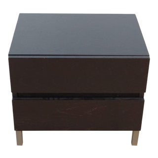 CB2 Black Nightstand For Sale