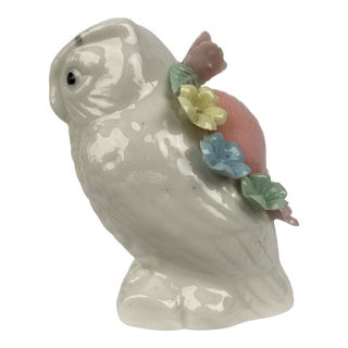 Vintage Mid 20th Century China Owl Pincushion For Sale