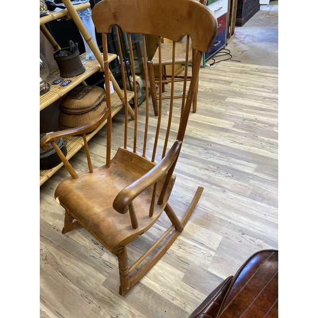 American Vintage Refinished Rocking Chair For Sale - Image 3 of 5