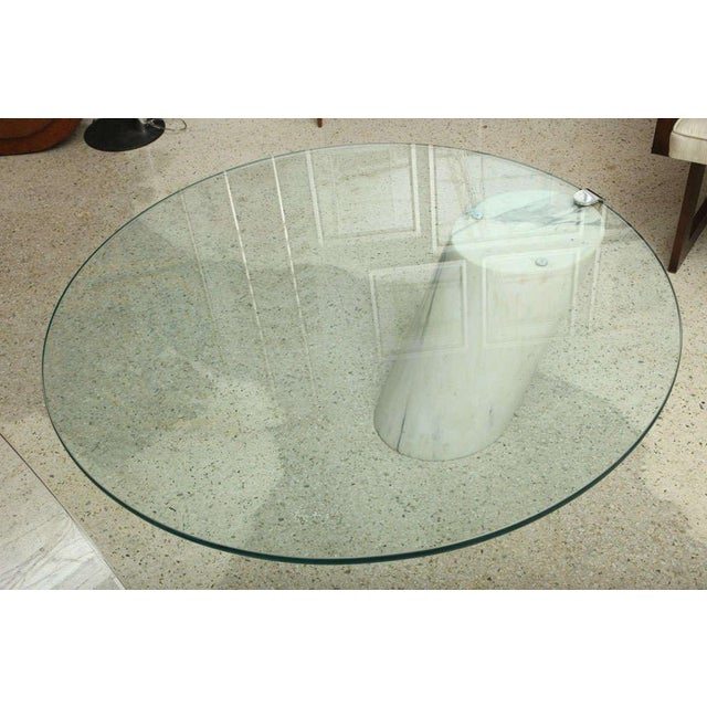 Metal Marble and Glass Low Table Possibly by Brueton For Sale - Image 7 of 9