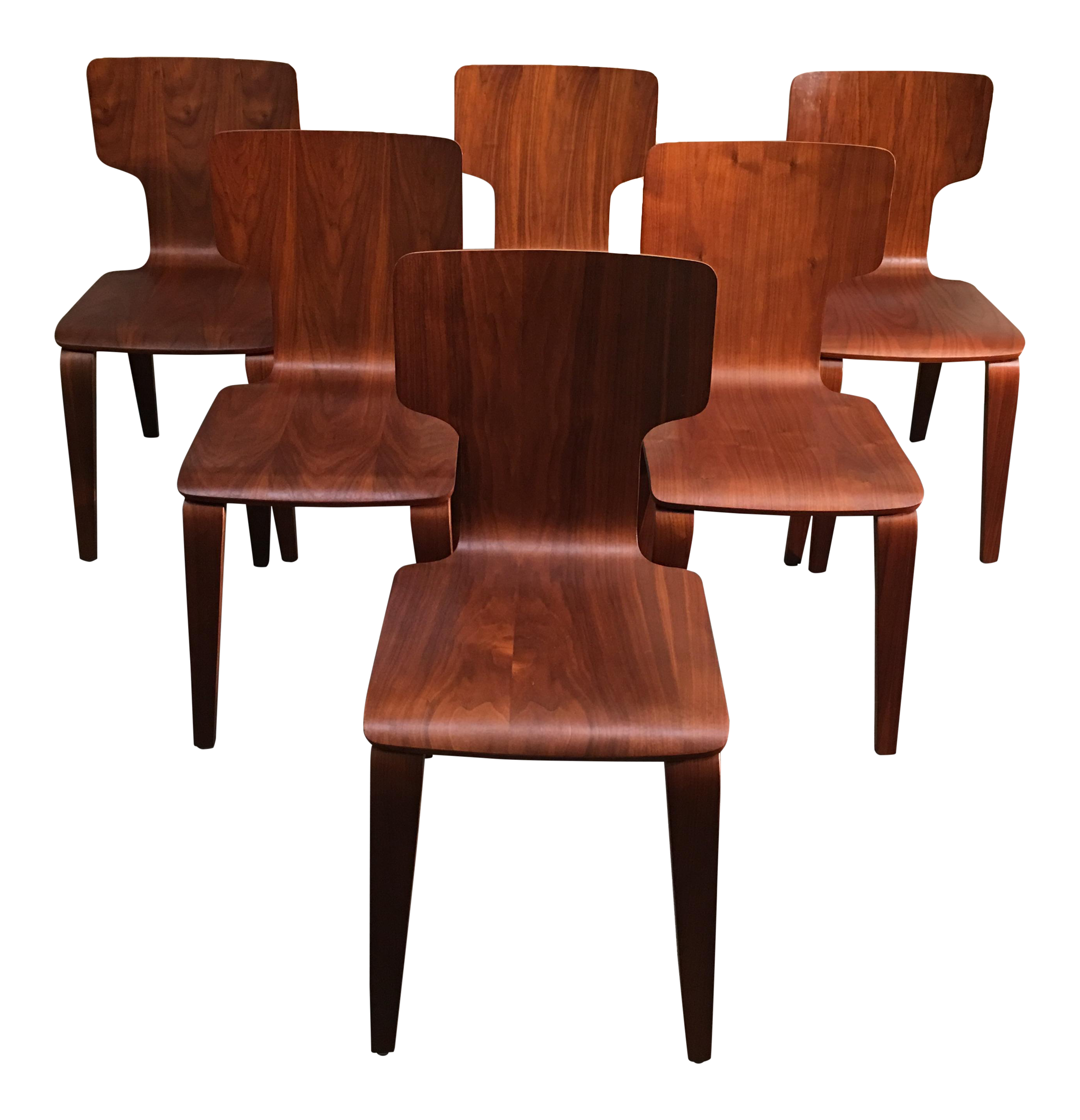 West Elm Stackable Bentwood Dining Chairs   Set Of Six