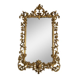 19th Century French Giltwood Carved Mirror For Sale