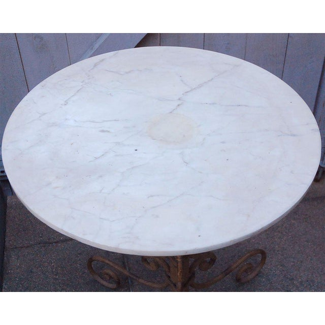 Mid 19th Century English Round Garden Table For Sale - Image 9 of 11