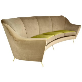 Italian Midcentury Circular Sofa, 1950's For Sale