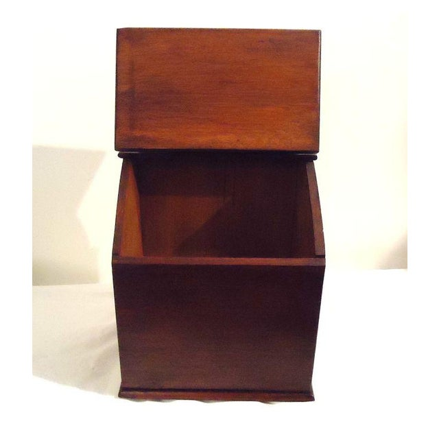 Brown Fantastic Oversized 19th Century Walnut Wall Box For Sale - Image 8 of 8