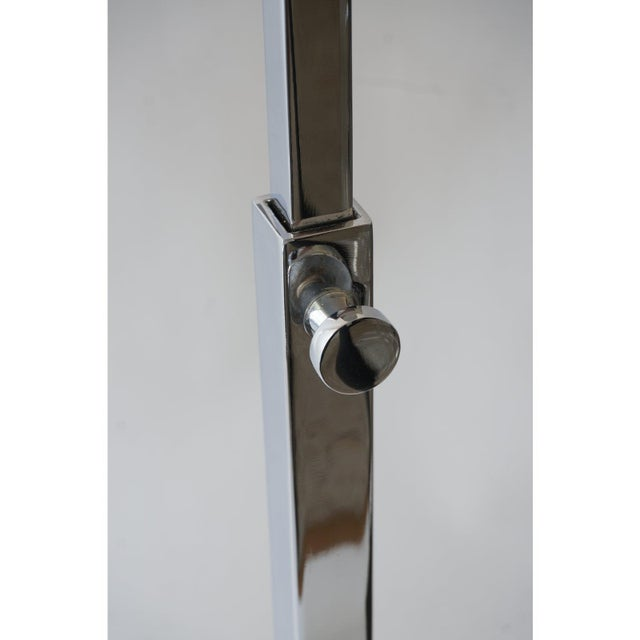 Vintage Casella Style Floor Lamp - Adjustable Polished Chrome For Sale In West Palm - Image 6 of 11