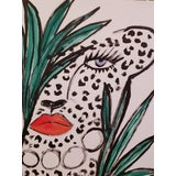Image of Cheetah Among Leaves Drawing *Price Is Firm* For Sale