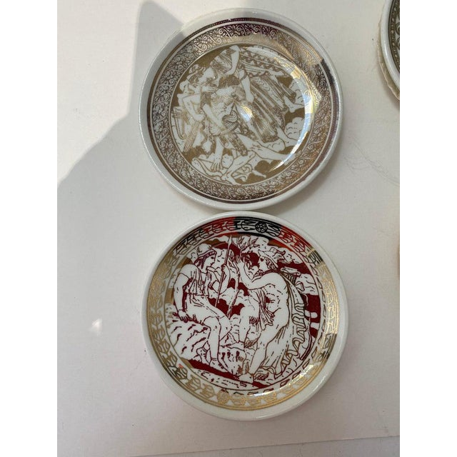 "Fornasetti Mid-Century Modern Fornasetti ""Mitologia"" Coasters - 2 Boxed Sets, 16 Coasters in All For Sale - Image 4 of 13"