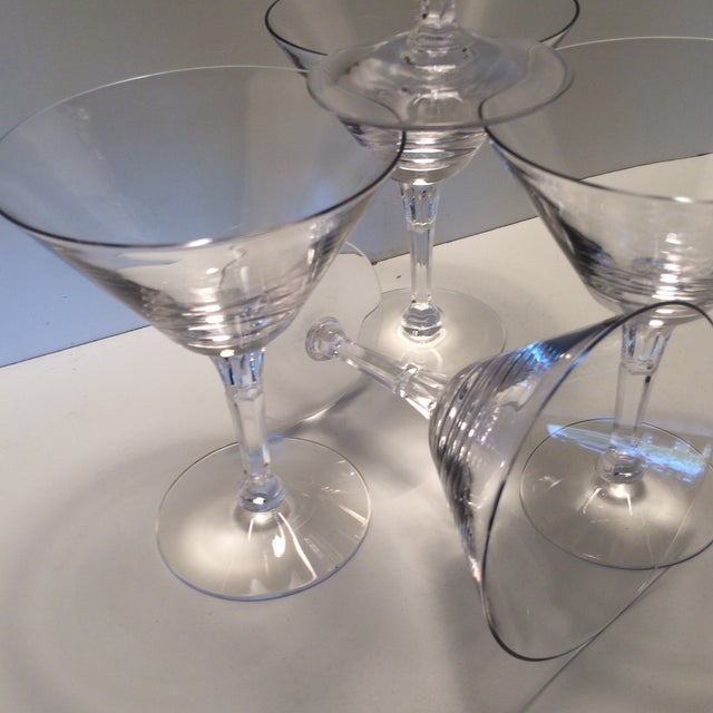 Set of 5 Cocktail or Champagne Glasses by Fostoria For Sale - Image 9 of 13