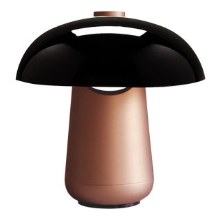 Contardi Ongo Metal Table Lamp, Copper and Black For Sale