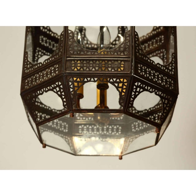 Late 20th Century Moroccan Moorish Clear Glass Pendant For Sale - Image 5 of 9