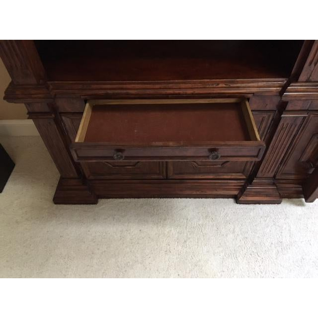 Wood Lighted Library Wall Unit For Sale - Image 7 of 8