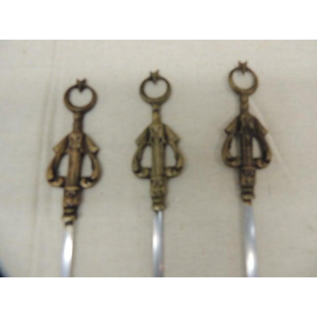 Turkish Set of Ten (10) Brass Turkish Grilling Skewers For Sale - Image 3 of 6