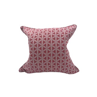 Scalamandre Cross Channel Pillow, Rouge For Sale