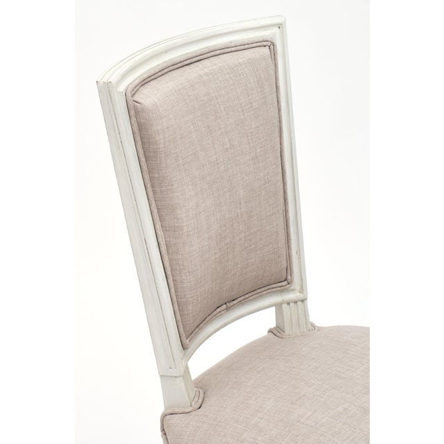 Louis XVI Style Painted Dining Chairs - Set of 6 For Sale - Image 4 of 10