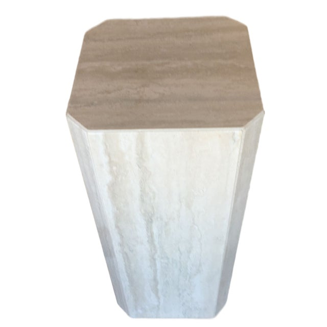 Gray Travertine Marble Pedestal For Sale - Image 10 of 10