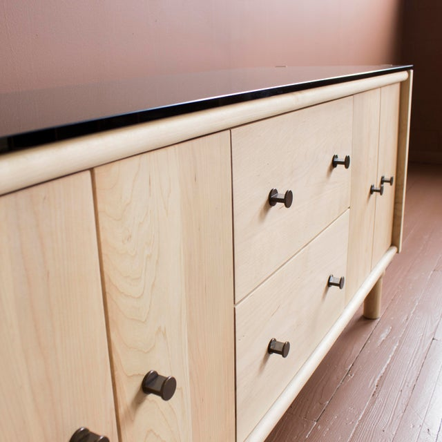Gold Mae Credenza and Sideboard For Sale - Image 8 of 10