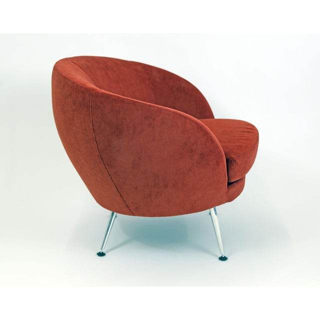 Brazilian Modern Mannes Curved Back Red Club Chair - Image 11 of 11