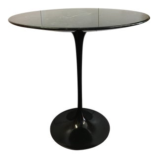 Eeri Saarinen for Knoll Black Marble Side Table For Sale