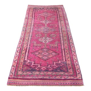 1970's Vintage Turkish Hand-Knotted Rug-2′10″ × 9′7″ For Sale