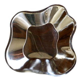 Alvar Aalto for Ittala Stainless Steel Large Bowl For Sale