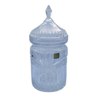 Vintage Marquis by Waterford Lidded Crystal Jar For Sale