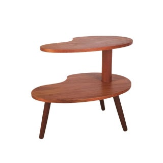 1960s Danish Modern Two-Tiered Teak Accent Table