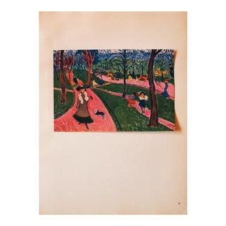 """1948 André Derain, Original Period Parisian Lithograph """"Hyde Park"""" For Sale"""
