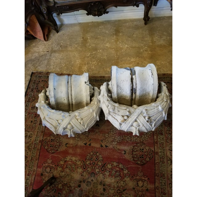 Crusty Antique Zinc Architectural Fragments For Sale - Image 12 of 13