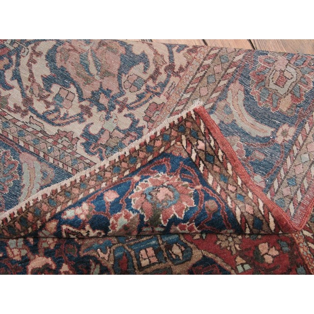 Textile Isfahan Rug For Sale - Image 7 of 7
