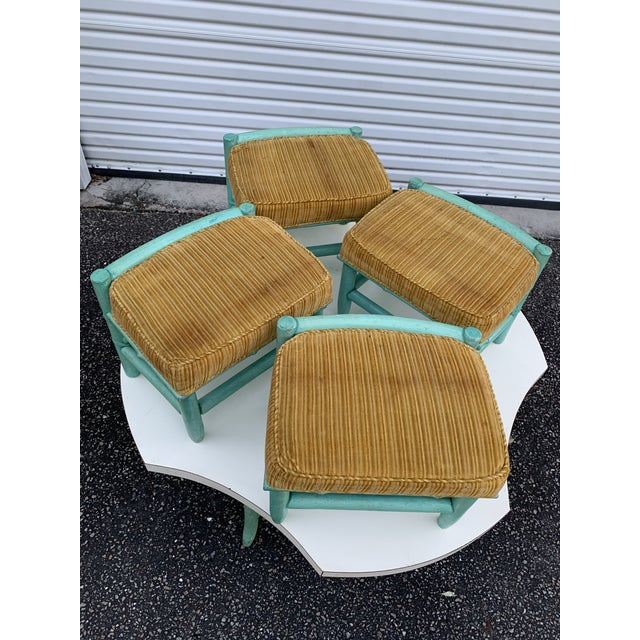 Vintage Regency Palm Beach Bamboo Table and Chairs - 5 Pieces For Sale In Charleston - Image 6 of 13