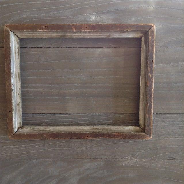 Vintage Gray Wood Frame - Image 3 of 4