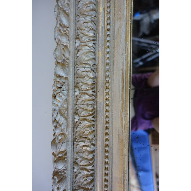 Late 19th Century 19th C. French Painted & Gilt Mirror For Sale - Image 5 of 7