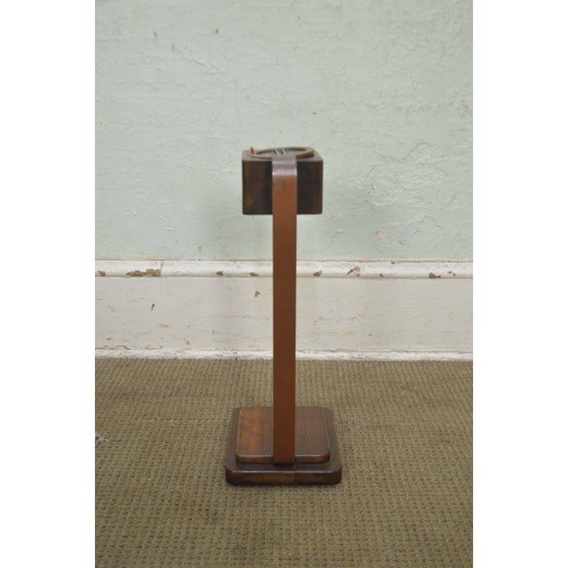 Art Deco Art Deco Vintage Pair of Mahogany Smoke Stands Possibly Gilbert Rhode For Sale - Image 3 of 13