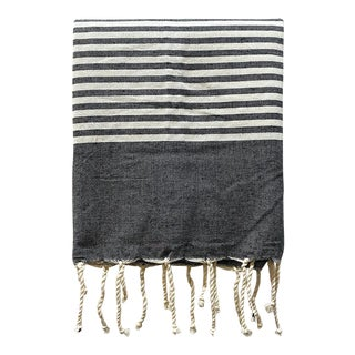 "The Souk's Tunisian Fouta, Egyptian Cotton Bath Towel, 38"" X 80"" For Sale"