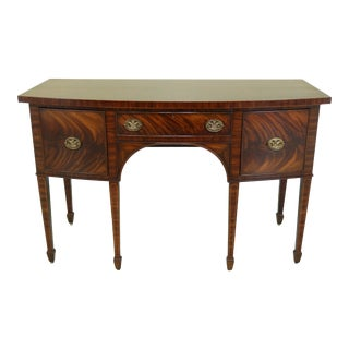 Maitland Smith Federal Style Figural Mahogany Sideboard For Sale