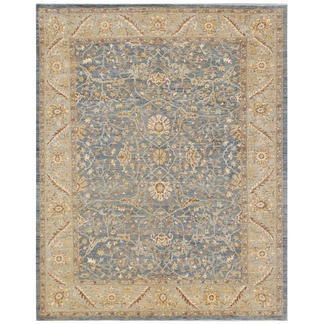 """Pasargad NY Hand-Knotted Farahan Area Rug - 9' x 11'4"""" For Sale"""