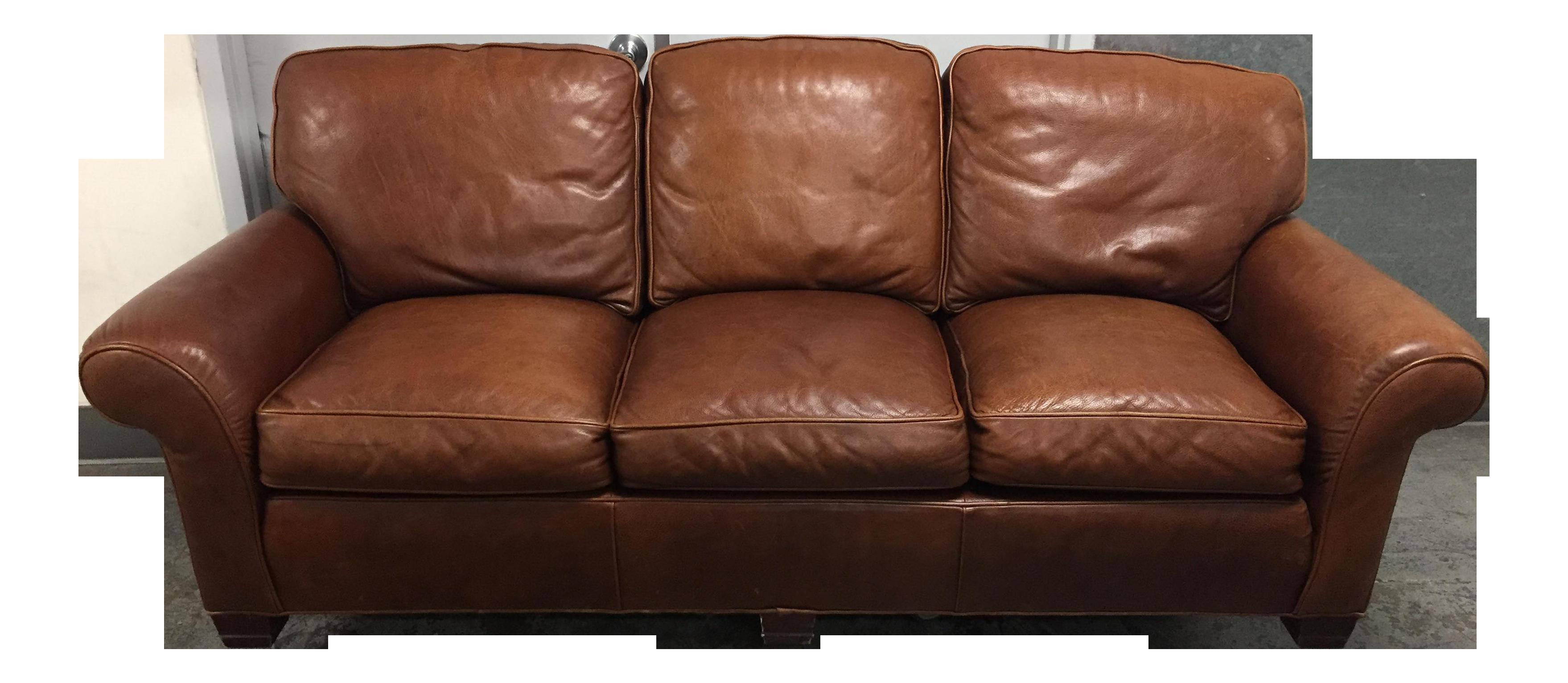 Whittemore Sherrill Ltd Distressed Leather Sofa Chairish