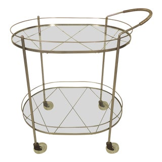 Italian Midcentury Tea Cart For Sale