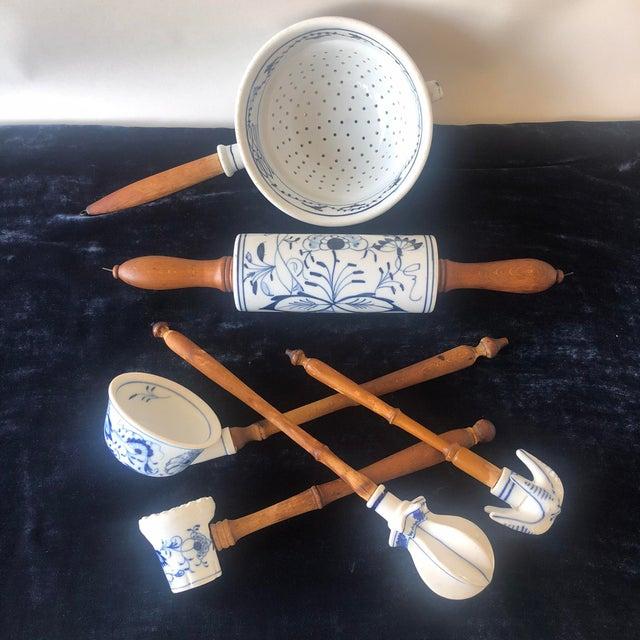 Meissen Porcelain Antique 1920s Meissen Style Porcelain Rolling Pin For Sale - Image 4 of 5