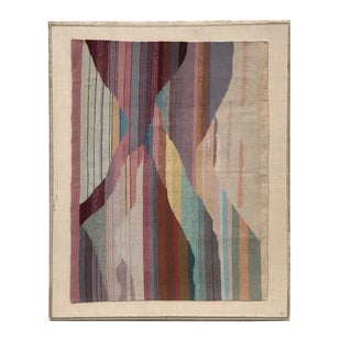Handwoven Abstract in Plexi Case from Steve Chase Palm Springs Estate For Sale