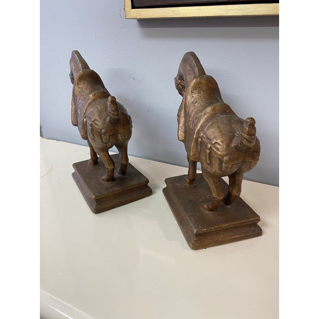 Bronze Vintage Gold Tang Horses - a Pair For Sale - Image 8 of 11
