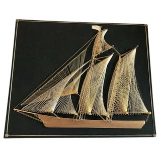 Mid-Century Ship String Art