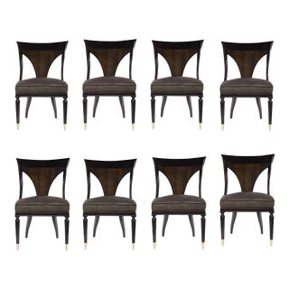 Caracole Modern Keeping With Tradition Dining Chairs Set of Eight For Sale